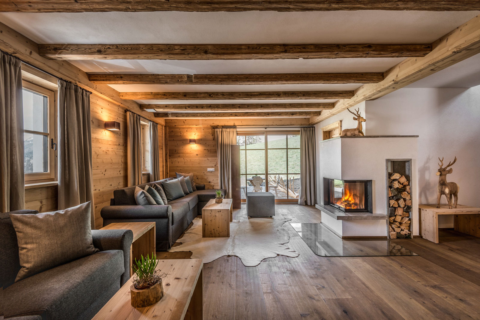 Charming Rustic Mountain Chalet Built In Typical Alpine Style